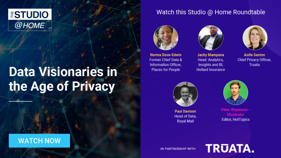 Data Visionaries in the Age of Privacy - The Studio @ Home poster