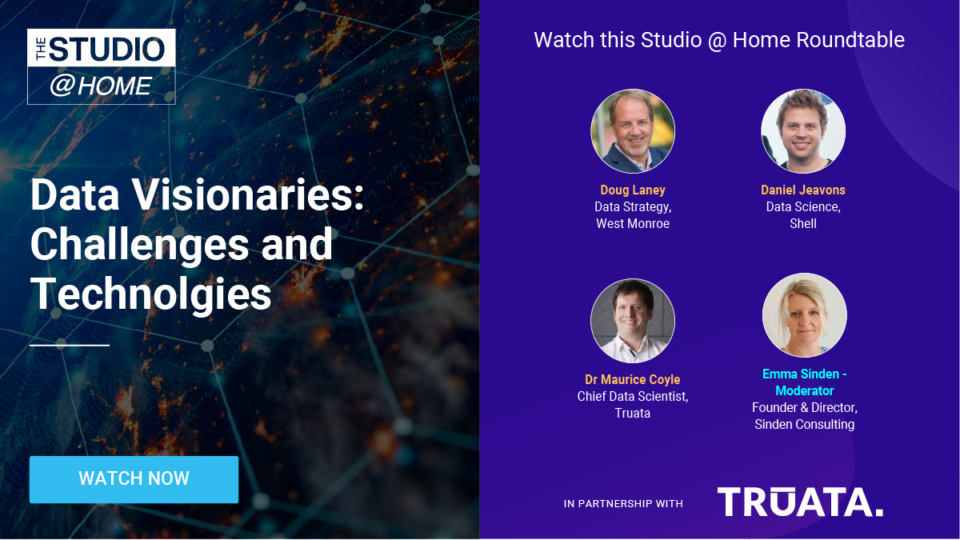 Data Visionaries: Challenges and Technologies - The Studio @ Home poster