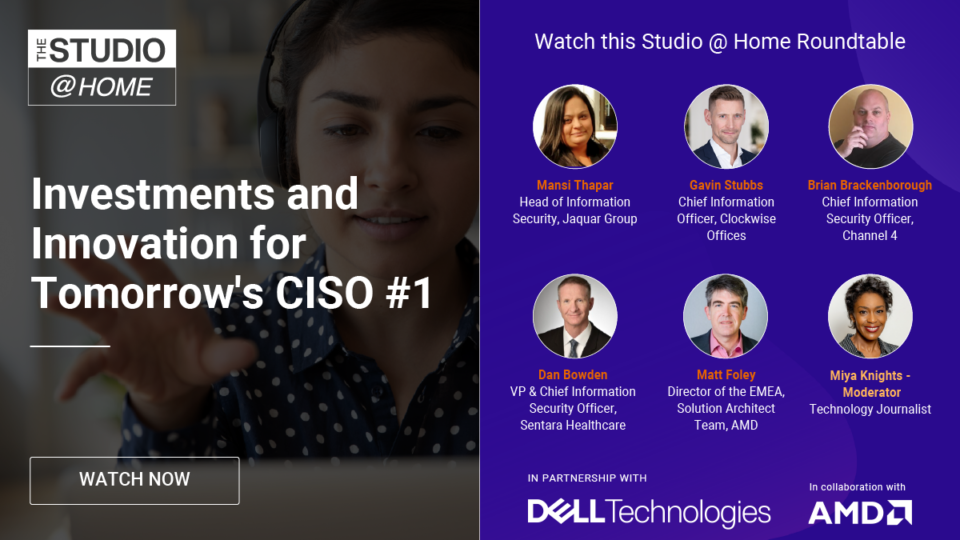 Investments and Innovation for Tomorrow's CISO Roundtable 1 - The Studio @ Home poster